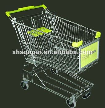 Shopping Trolley with Advertising Board
