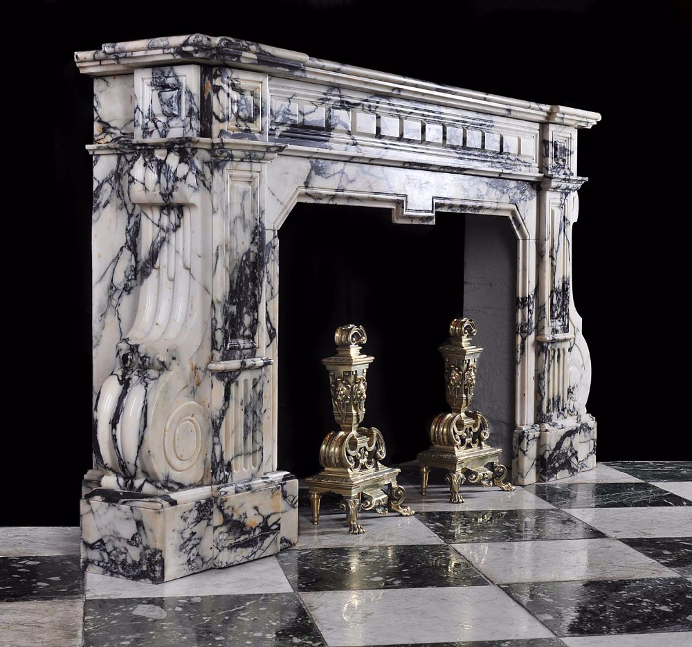 French Style indoor chimneypiece antique marble fireplace Mantel