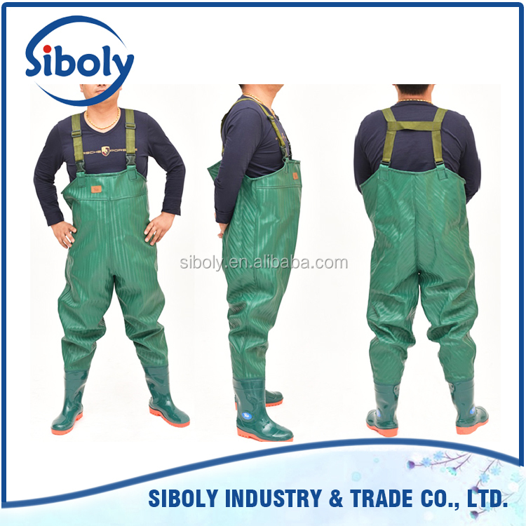 Export quality products high demand products chest high waders being used as waterproof fish farming work wear