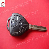 Tongda remote control key case ,3 button key shell for Toyota