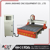 ACUT-1325 CNC Router with rotary engraving machines cutting wood door in furniture sculpture