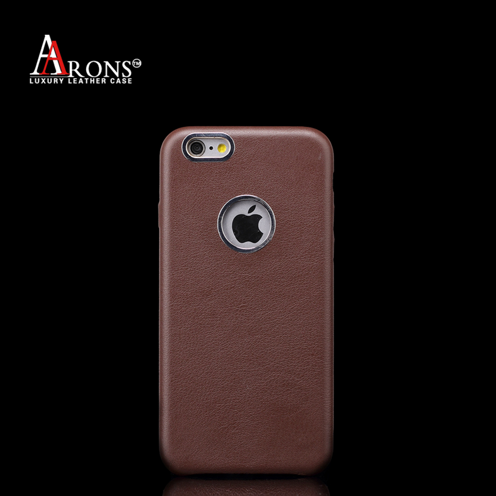 Genuine leather design with the hole cell phone back case for phone6