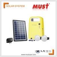 MUST Hot sales Portable 3W High quality unique mini solar system portable