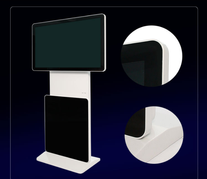 360 degree floor stand LED full HD vertical rotary advertising digital signage panel with solution