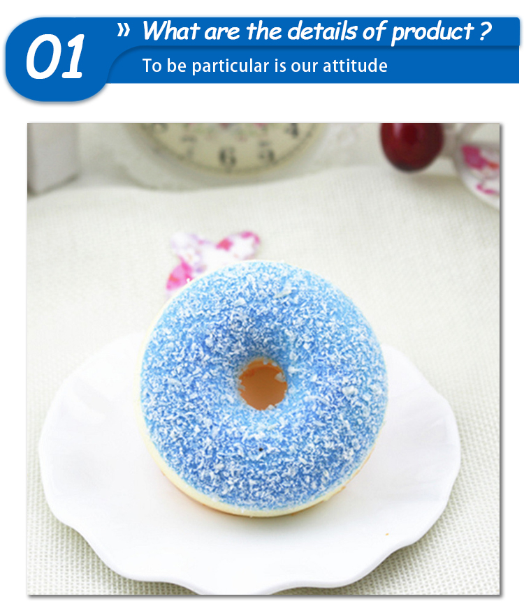CE Certificate Squishy Pack PU Scented Slow Rising Donut Squishy Toys Soft With Cream For Children Toy Educational