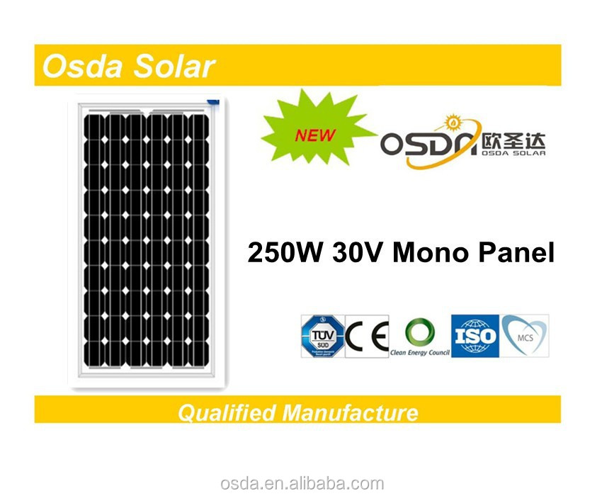 ODA250-30-M 250W Solar Panel manufacturers in china