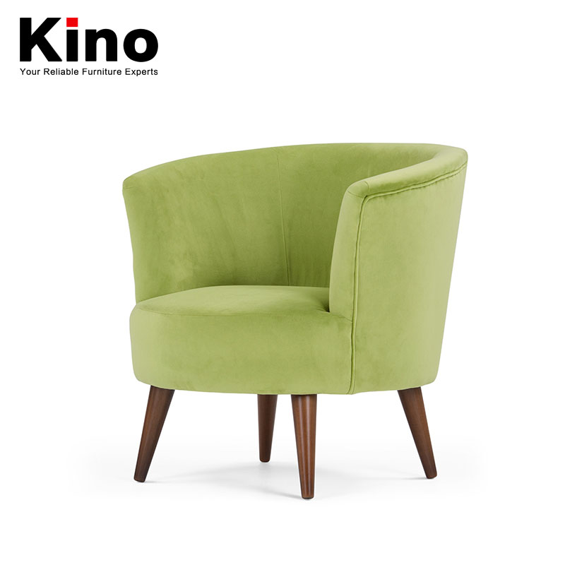 Contracted and contemporary small single solid wood chair cafe bars balcony recreational area round small family fabric sofa
