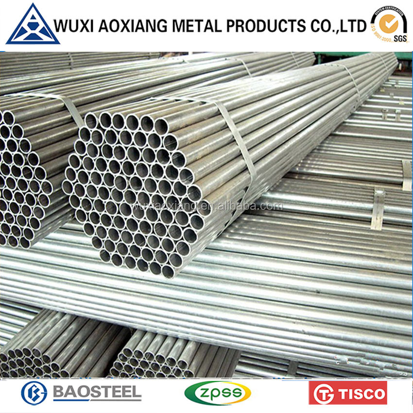 Trade Assured ASTM Hold Rolled Round Hollow Section Galvanized Steel Pipe Prices
