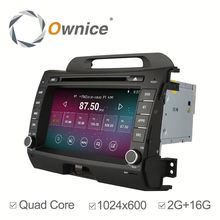 2G Ram wholesale price quad core Android 4.4 & Android 5.1 car stereo for Kia Sportage R 2010 2011 built in wifi 1024*600