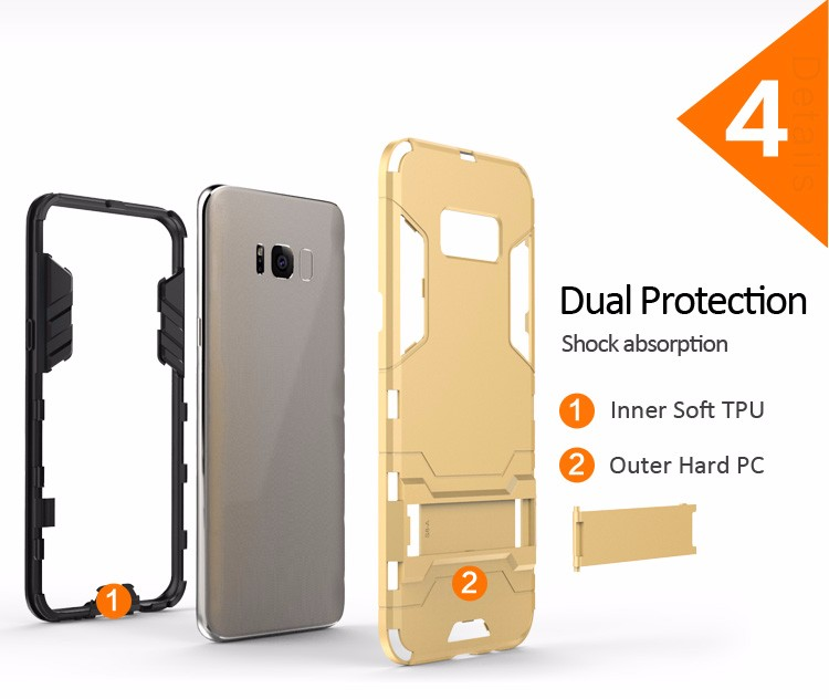 High Quality bumper case for samsung s8,for galaxy s8 shockproof case,for samsung galaxy s8 case pc tpu