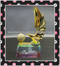 new arrival eagle golf metal trophy with engraving in base