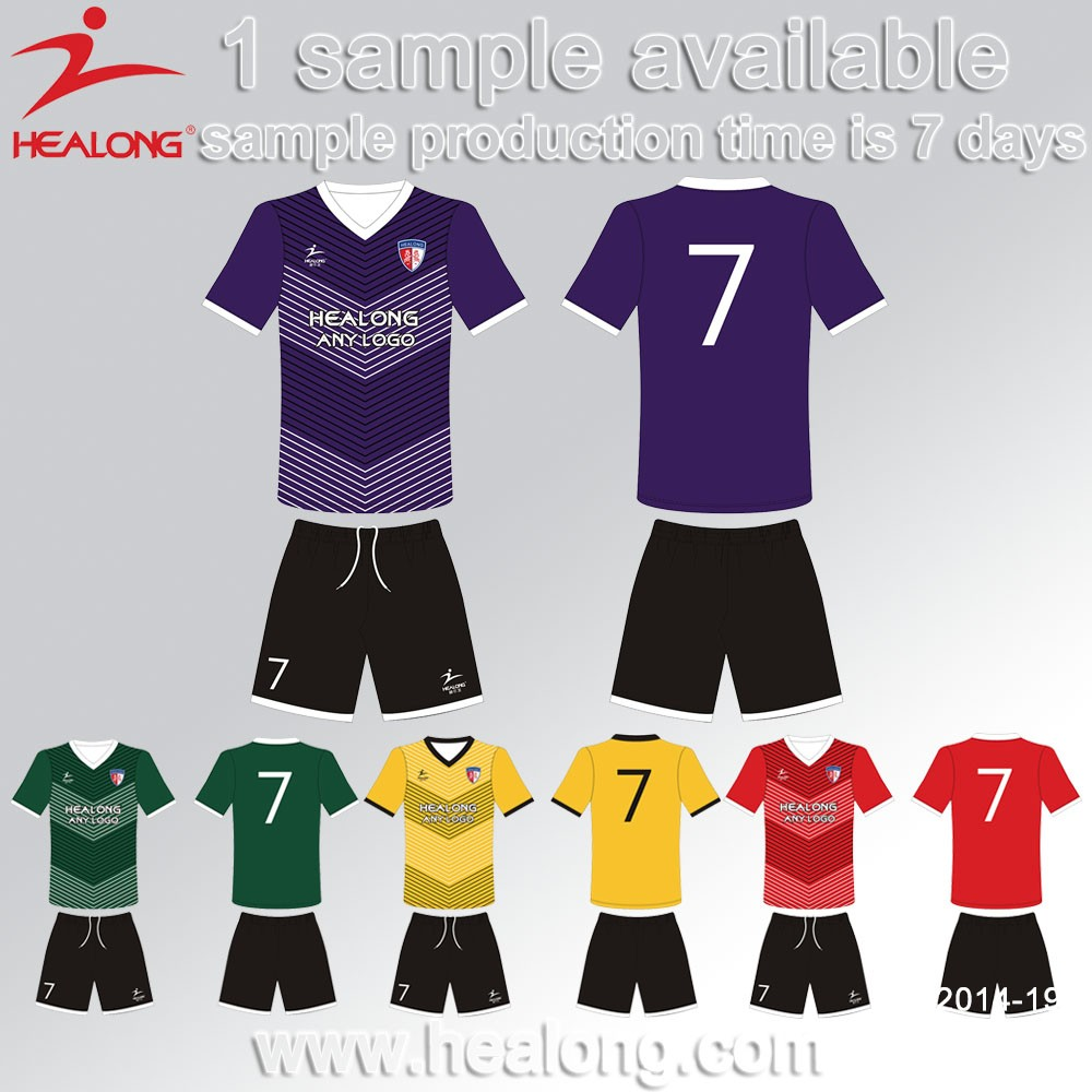 Thai Quality OEM Cheap Customized Dri Fit Sublimaiton Soccer Jerseys Uniforms Custom Sublimation Team Soccer Uniform