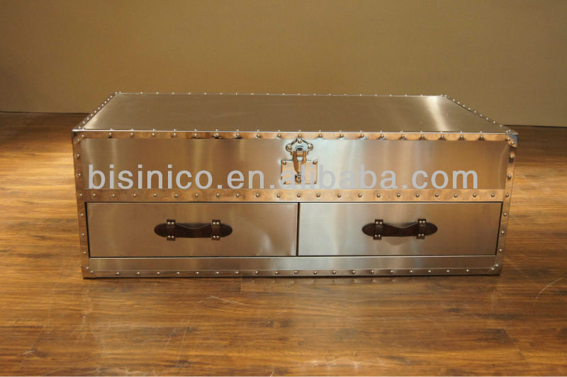 Metal coffe table,English-style living room centre table(B260141)