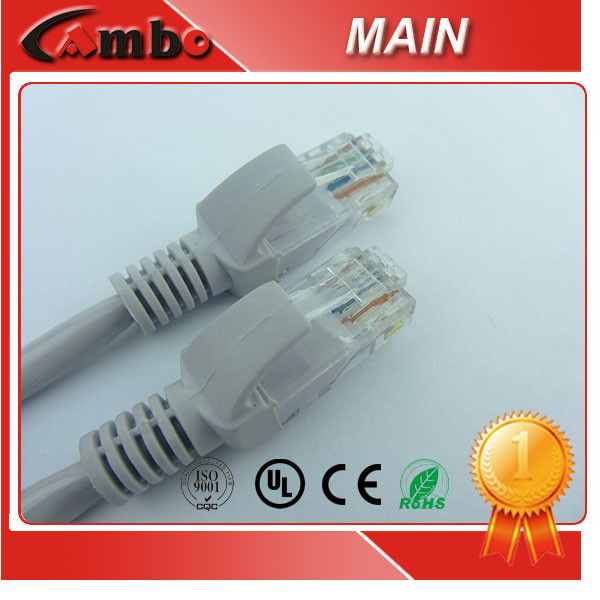 FR/PVC Or LSOH Jacket Pigtail Ethernet CAT6 Cable 24AWG Stranded