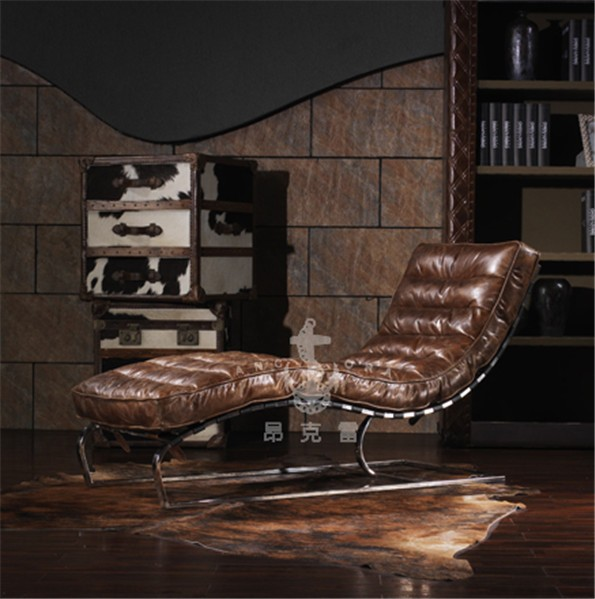 Vintage luxury aviator leisure lounge chair/geniune leather sofa K625