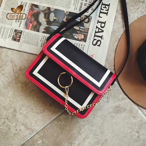 High quality long chain small cross body bag fashion leather lady shoulder bag