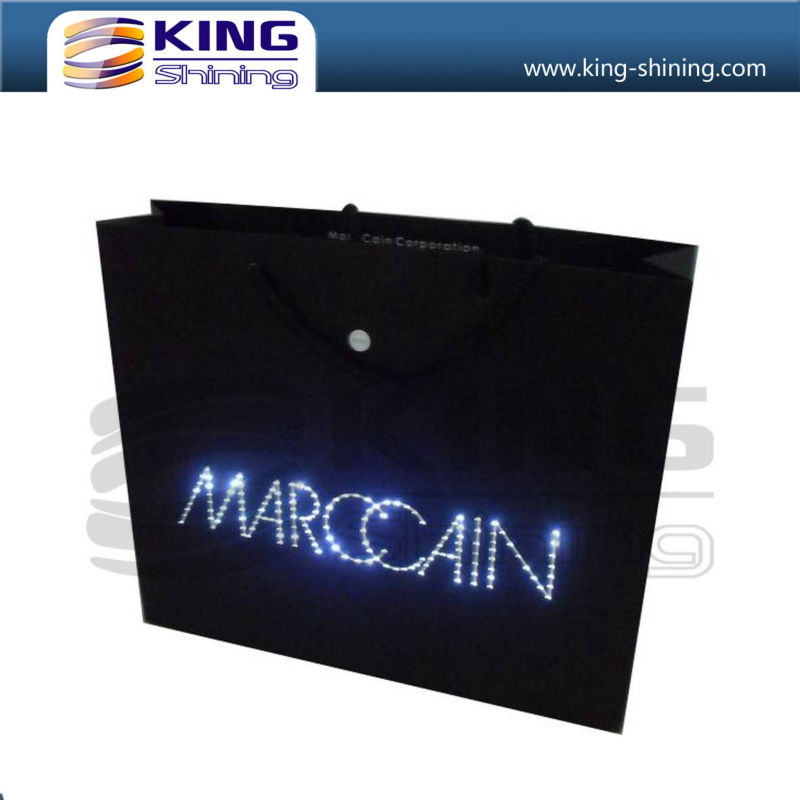 custom LED bag with lights for promotion