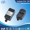 Outdoor use 12V 1A, 2A IP44 ac adaptor for christmas light