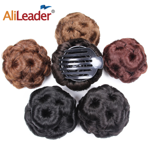 AliLeader Flower Curly Hair Clips Bun