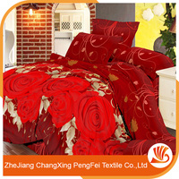 Classic style deep color printed textile fabric wedding bedsheet