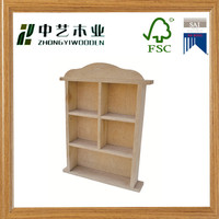FSC&SA8000 art minds home decor wall shelves solid pine 5 dividers portable blank handmade toy storage wall shelves