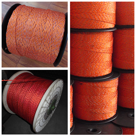 Patented product twisted rope for electric fence