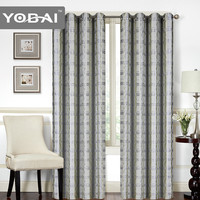New Design Polyester Fashion Line European Indian Voile Jacquard Curtains