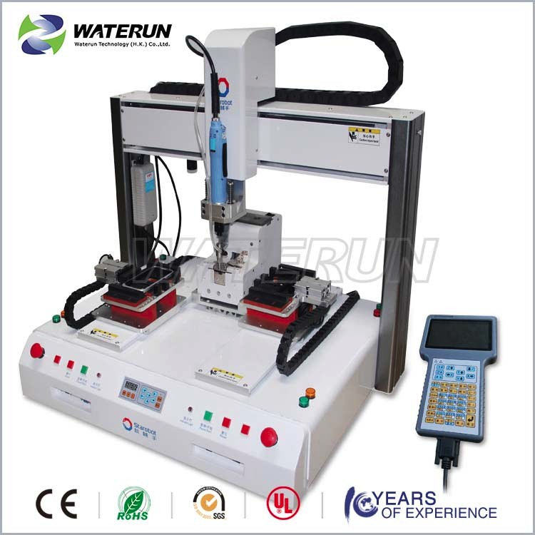 desktop automatic screw locking machine with robot arm