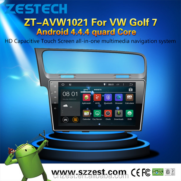 1080P 10.2 inch in-dash android car accessories for VW Golf 7 android car spare parts with android autoradio player