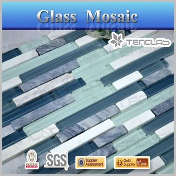 best price blue decorate kitchen mosaic stone