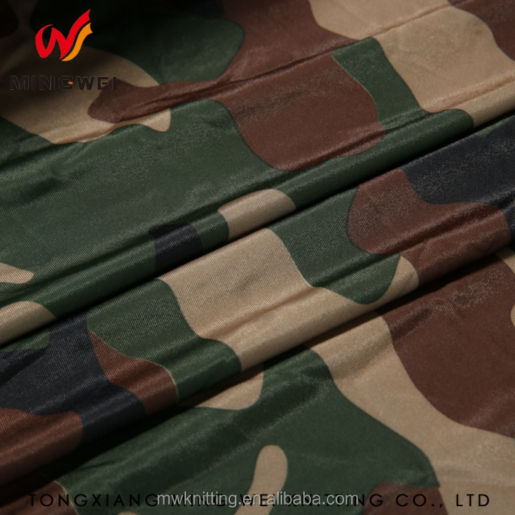 Textile Manufacturing Camouflage Pattern Yarn Plain Stripe Spandex Fabric