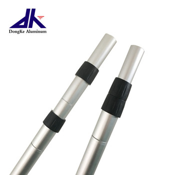 Custom Aluminum Telescopic Pole with twist lock mechanisms for multifunction