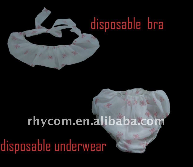 Disposable print design non woven underwear for SPA
