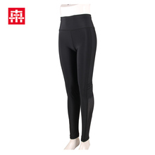 High waist cotton tight young ladies leggings sex, transparent spandex solid color leggings with mesh