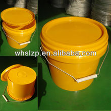 5L colored plastic pail with lid for paint, colored bucket