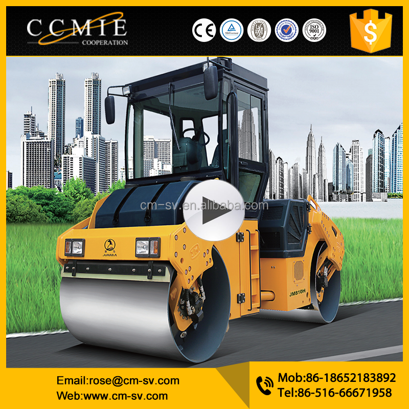 vibratory road <strong>roller</strong> JM810H 10 ton compactor capacity construction machinery