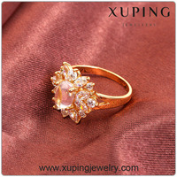 10148 Xuping Fashion latest 18k gold finger Ring design jewelry women gemstone Rings