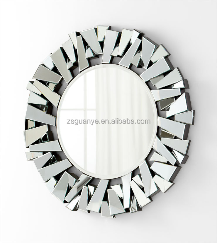 large contemporary 3d decorative wall mirror