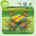 Environmental colorful Wooden kids table and chair set