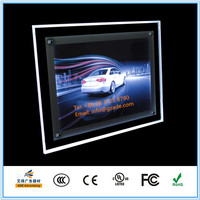 ADE high quality outdoor acrylic led photo frame Advertising Crystal Super Thin LED Light Box for 4S Car shops