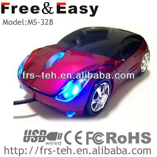 China 2013 magic LED light computer accessories car shape 3D mouse