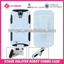 2013 new products with hard pc and silicone kickstand for samsung galaxy s4 case i9500 cellular phone case