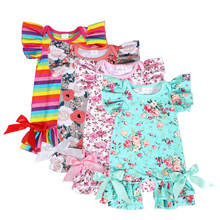 hot sale fashion infant romper summer boutique clothes soft baby cotton romper for girls