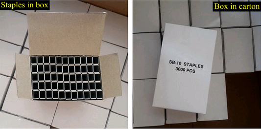 SB103020 staples for closing corrugated boxes
