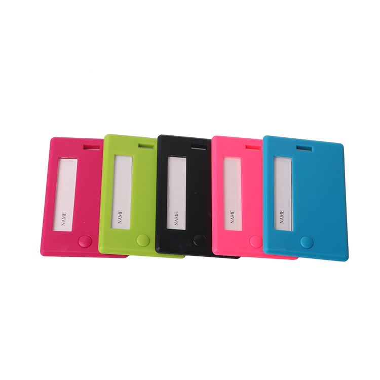13101 Wholesale multi-colored Hard Plastic Luggage Tag