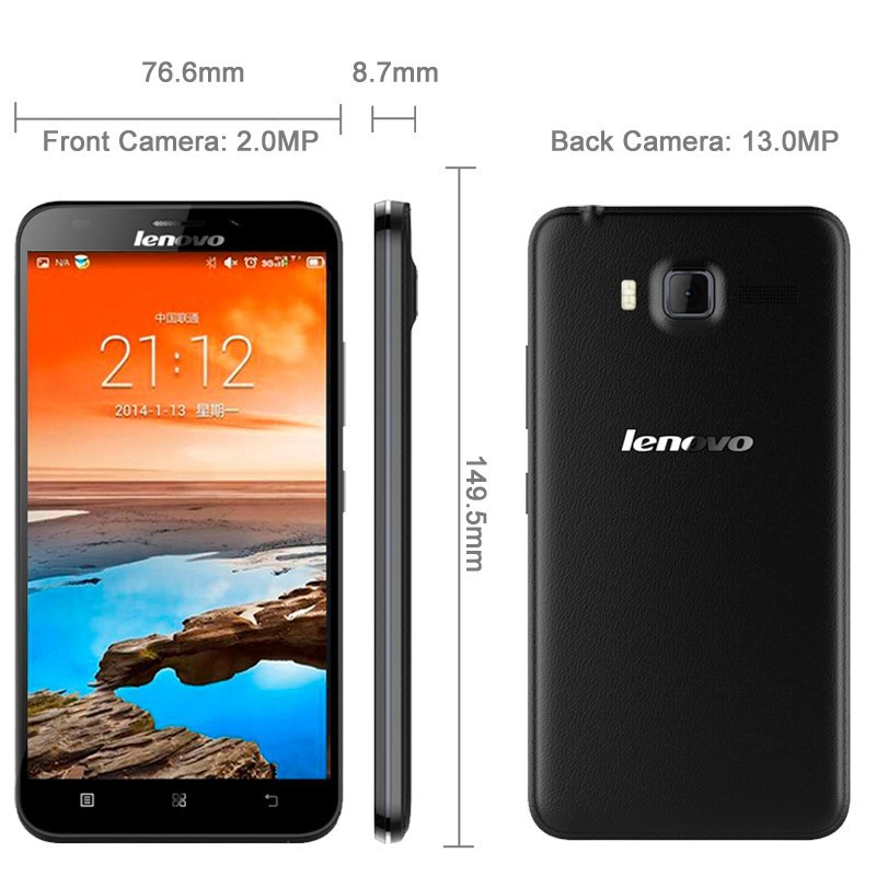 Original Lenovo A916 4G LTE FDD cell phone mtk6592 Octa Core 1GB RAM Android 4.4 play store