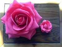 artificial big giant foam rose flower