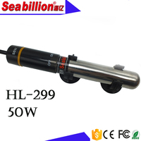 HL-299 50w strong shell stainless steel aquarium water heater fish bowl