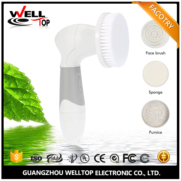 Fast Delivery Handheld girl use sonic skin rejuvenation electric face facial cleansing brush