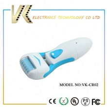 Rechargeable/battery callus remover for feet